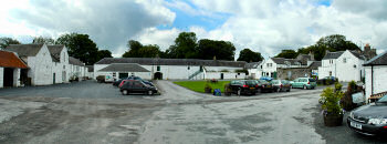 Picture of a large square with whitewashed buildings, Islay House Square near Bridgend