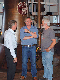 Picture of Jim McEwan, Martin Clunes and Duncan McGillivray at Bruichladdich