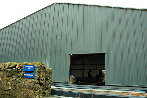 Picture of an under construction whisky storage warehouse