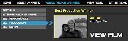 Screenshot of the FilmG winner of Best Production