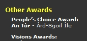 Screenshot of the listing for the People's Choice Award