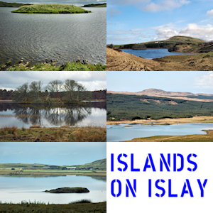 Collage of a few pictures of islands on an island