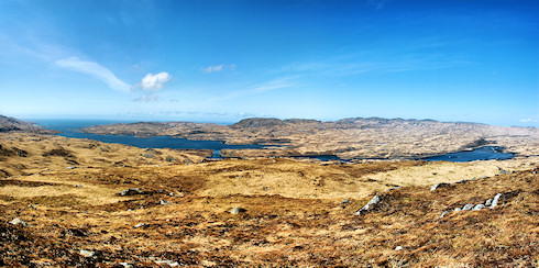 Picture of a panoramic view over a long sea loch