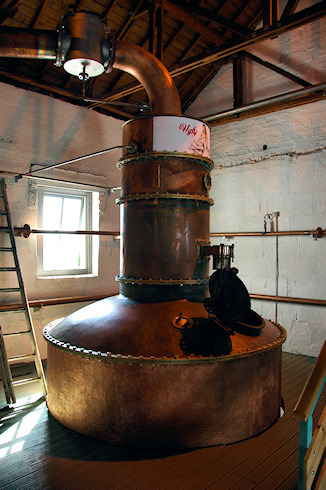Picture of the Ugly Betty Lomond still at Bruichladdich distillery