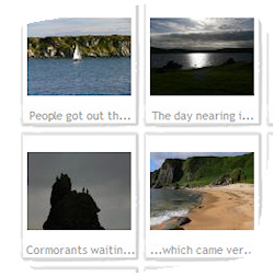 Screenshot of a picture gallery with Islay pictures