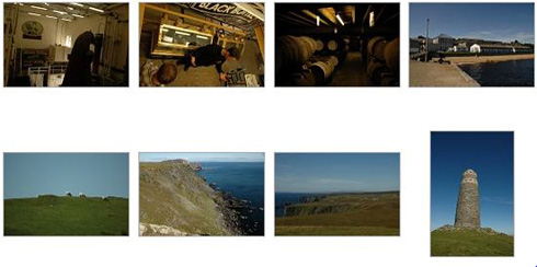 Screenshot of thumbnails of a few Islay pictures