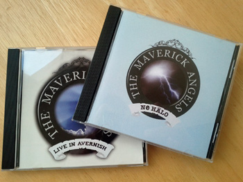 Picture of two CDs by the Maverick Angels