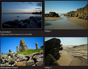 Screenshot of an Islay picture gallery
