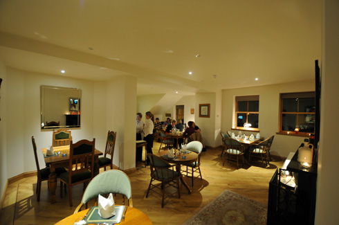 Picture of the front part of the restaurant of The Islay Hotel