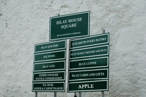 Picture of the sign at Islay House Square