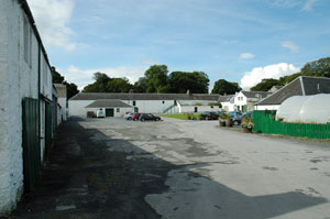 Picture of a former estate square converted to a shopping and small business park