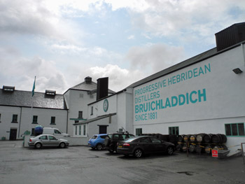 Picture from the yard of Bruichladdich distillery